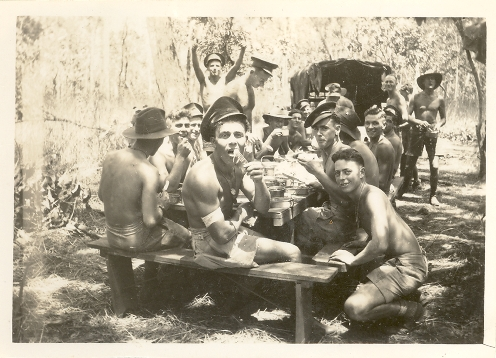 Transport platoon at lunch, Coomalie
