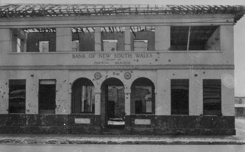 Bank of NSW, Darwin (Smith Street, with shrapnel damage)