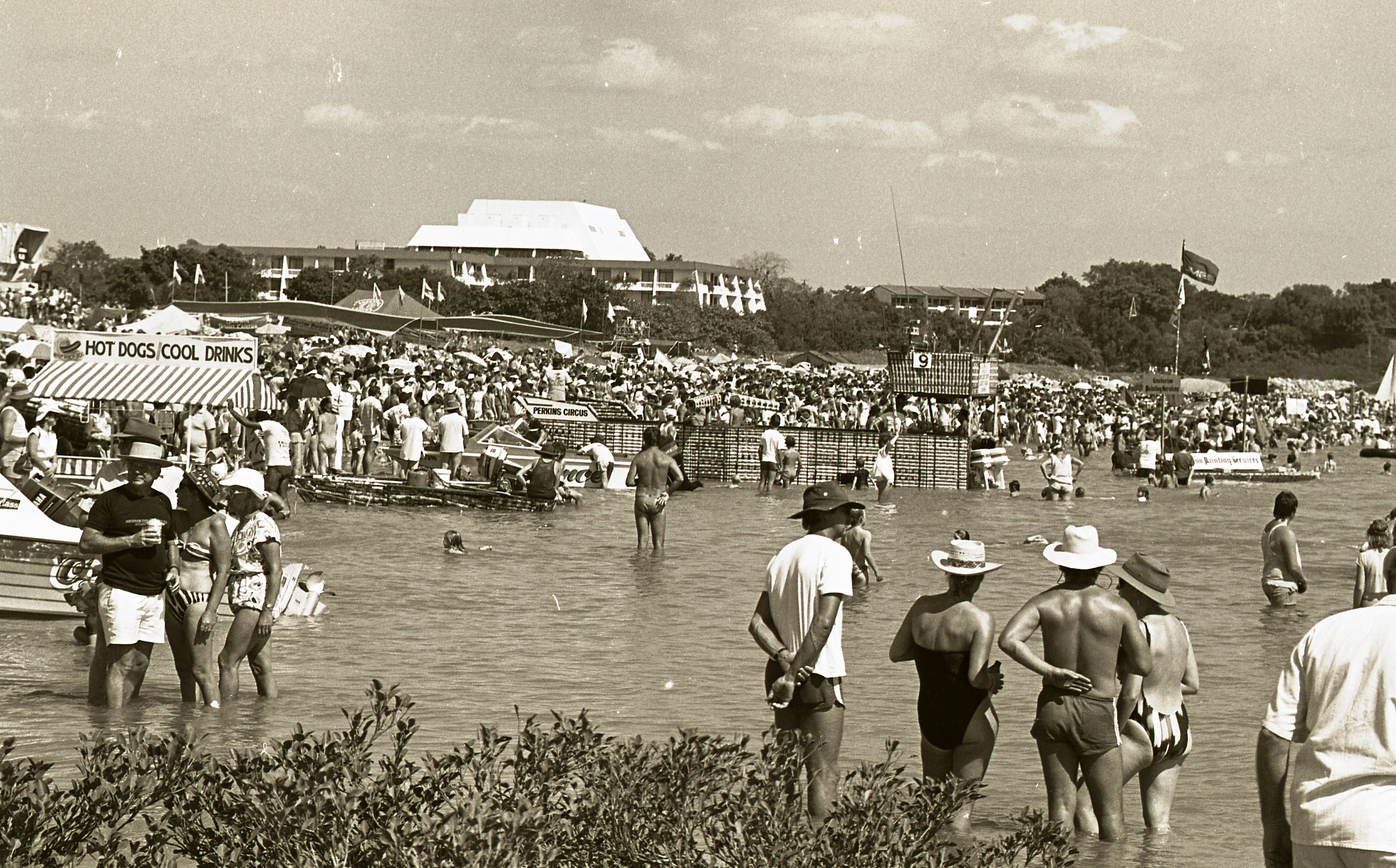 [Beer Can Regatta, 7 June 1987] <br />Image courtesy of Northern Territory Archives Service, Department of Chief Minister, NTRS 3823, Item BW2637, 5.