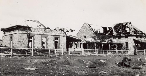 Darwin Post Office after the bombing, 19 February 1942