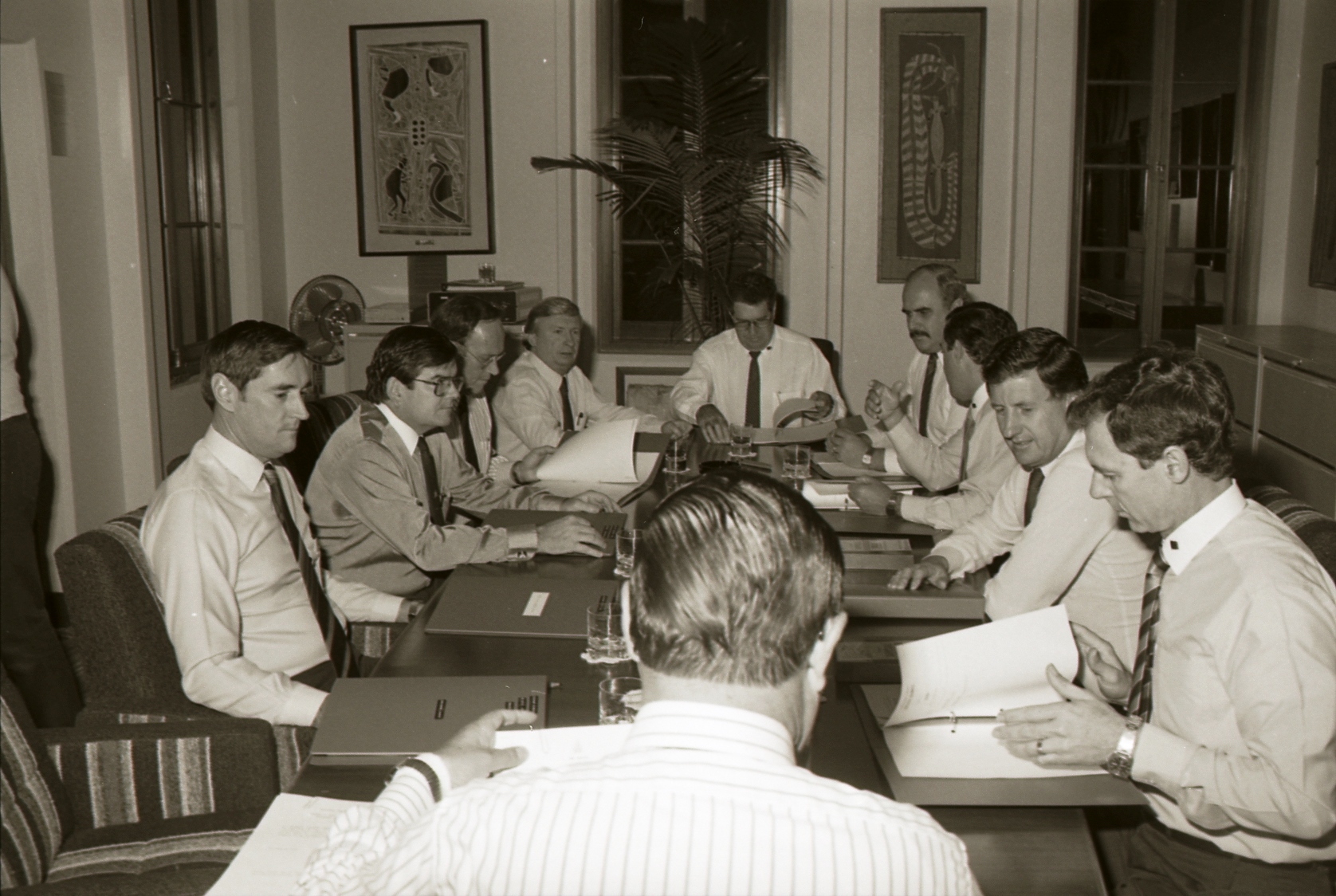 [New Executive Council meeting, 14 July 1988] Image courtesy of Northern Territory Archives Service, Department of the Chief Minister, NTRS 3823 P1, BW 2735, Item 7