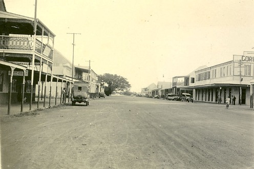 Cavenagh Street, Darwin, late 1930s (looking towards harbour)