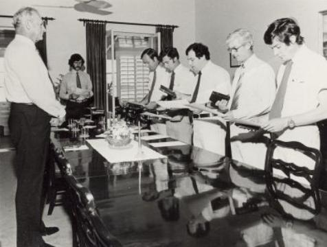 Swearing in of Executive Council, Government House Darwin, n.d.